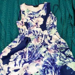 Apt. 9 Blue Floral Dress